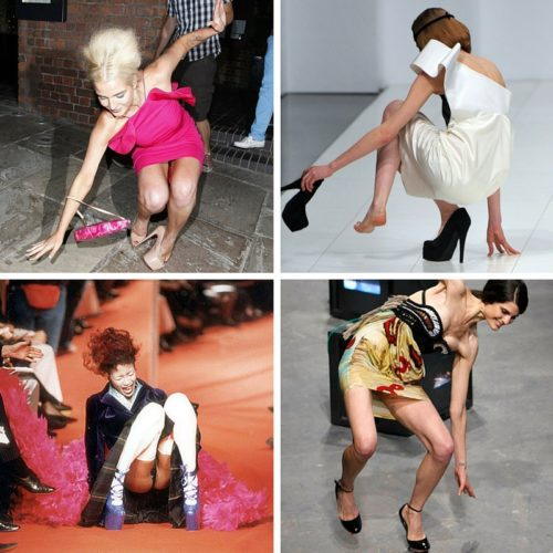 High heels fall collage