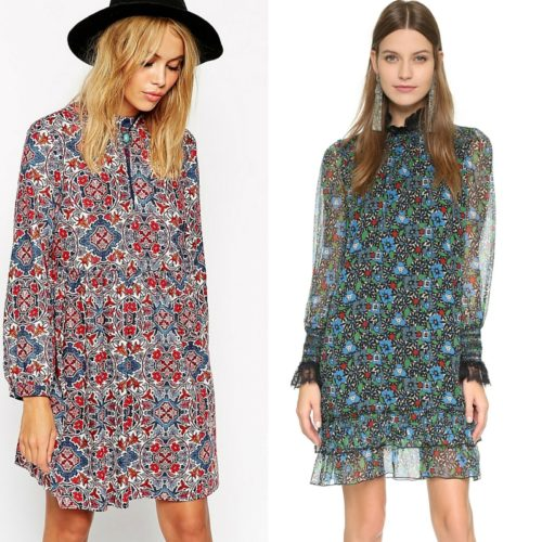 ASOS and Anna Sui Vintage silk dress