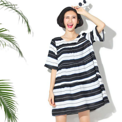 Stripe dress maternity chic