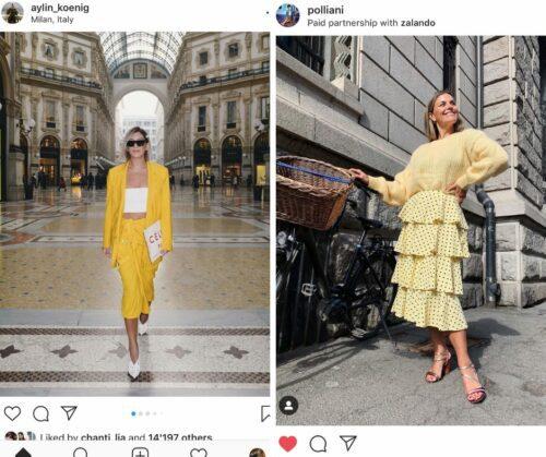 Yellow fashion trend 2019