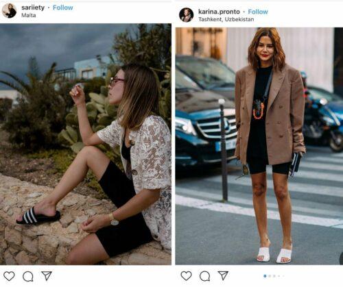 cyclist shorts fashion trend